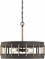 Savoy House 7-2661-4-32 Leland Artisan Rust Drum Hanging Light