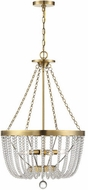 Savoy House 7-2851-4-322 Bergamo Warm Brass Hanging Pendant Light