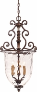 Savoy House 7-3006-3-8 St. Laurence New Tortoise Shell w/ Silver Foyer Light Fixture