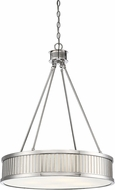 Savoy House 7-3103-4-109 William Polished Nickel Drum Pendant Lighting Fixture