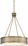 Savoy House 7-3103-4-322 William Warm Brass Drum Hanging Pendant Lighting