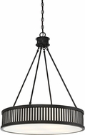 Savoy House 7-3103-4-44 William Classic Bronze Drum Hanging Pendant Light