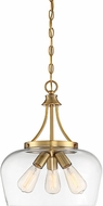 Savoy House 7-4034-3-322 Octave Contemporary Warm Brass Hanging Light