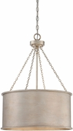Savoy House 7-487-4-53 Rochester Silver Patina 19  Drum Pendant Lighting