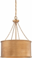 Savoy House 7-487-4-54 Rochester Gold Patina 19  Drum Pendant Light