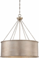 Savoy House 7-488-6-53 Rochester Silver Patina 25  Drum Lighting Pendant