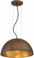 Savoy House 7-5013-1-84 Sommerton Modern Rubbed Bronze w Gold Leaf 16  Hanging Light Fixture