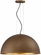 Savoy House 7-5014-3-84 Sommerton Modern Rubbed Bronze w Gold Leaf 24  Drop Ceiling Lighting