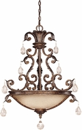 Savoy House 7-5311-5-8 Chastain New Tortoise Shell w/ Silver Drop Ceiling Light Fixture