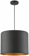 Savoy House 7-554-1-136 Morgan Contemporary Textured Black with Gold Leaf Drum Hanging Light Fixture