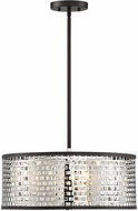 Savoy House 7-704-3-106 Leeds Modern Chrome and Metallic Bronze Drum Drop Lighting Fixture