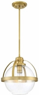 Savoy House 7-7201-1-322 Pendleton Contemporary Warm Brass Drop Ceiling Light Fixture