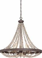 Savoy House 7-7406-5-39 Mallory Fossil Stone Chandelier Lamp