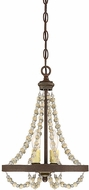 Savoy House 7-7407-2-39 Mallory Contemporary Fossil Stone Mini Chandelier Light