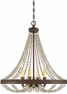 Savoy House 7-7408-4-39 Mallory Modern Fossil Stone Chandelier Lighting