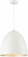 Savoy House 7-800-1-123 Graham Contemporary White with Silver Leaf Pendant Lighting