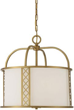 Savoy House 7-8202-3-322 Rockford  Warm Brass Drum Pendant Lighting