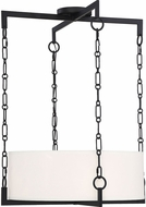 Savoy House 7-8401-4-89 Abbott Modern Matte Black Drum Hanging Lamp