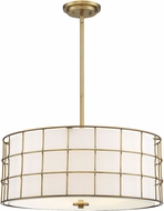 Savoy House 7-8501-5-322 Hayden Modern Warm Brass Drum Pendant Light Fixture