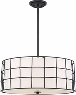 Savoy House 7-8501-5-89 Hayden Contemporary Black Drum Pendant Lighting Fixture