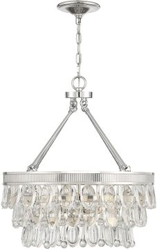 Savoy House 7-8700-4-109 Windham Modern Polished Nickel Mini Chandelier Lighting
