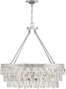 Savoy House 7-8701-6-109 Windham Contemporary Polished Nickel Chandelier Light