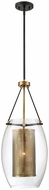 Savoy House 7-9063-1-95 Dunbar Contemporary Warm Brass w Bronze Accent Mini Pendant Lamp