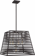 Savoy House 7-9170-5-108 Lakewood Modern Bronze w Stainless Steel Interior  Exterior Hanging Light