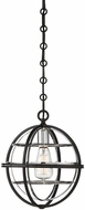 Savoy House 7-9178-1-67 Vega Contemporary Black w/ Chrome Mini Pendant Light Fixture