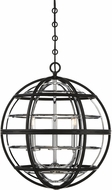 Savoy House 7-9179-3-67 Vega Modern Black w Chrome Pendant Lighting Fixture