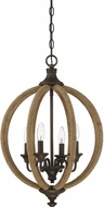 Savoy House 7-9215-4-32 Findlay Artisan Rust Hanging Light Fixture
