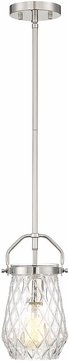 Savoy House 7-9280-1-109 St. Clare Contemporary Polished Nickel Mini Ceiling Pendant Light