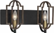Savoy House 8-0302-2-96 Westwood Barrelwood w/ Brass Accents 2-Light Bathroom Lighting