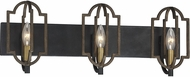 Savoy House 8-0302-3-96 Westwood Barrelwood w/ Brass Accents 3-Light Lighting For Bathroom