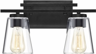 Savoy House 8-1020-2-BK Calhoun Modern Black 2-Light Bath Lighting
