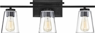 Savoy House 8-1020-3-BK Calhoun Contemporary Black 3-Light Bathroom Light