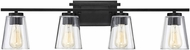 Savoy House 8-1020-4-BK Calhoun Modern Black 4-Light Bathroom Lighting Fixture