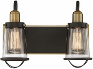 Savoy House 8-1780-2-79 Lansing Modern English Bronze and Warm Brass 2-Light Bathroom Lighting Fixture