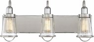 Savoy House 8-1780-3-111 Lansing Contemporary Satin Nickel w Polished Nickel Accents 3-Light Vanity Lighting