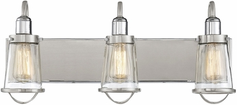 Savoy House 8-1780-3-111 Lansing Contemporary Satin Nickel w/ Polished Nickel Accents 3-Light Vanity Lighting