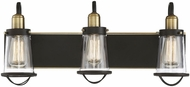 Savoy House 8-1780-3-79 Lansing Modern English Bronze and Warm Brass 3-Light Vanity Light