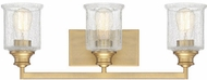 Savoy House 8-1972-3-322 Hampton Warm Brass 3-Light Bath Sconce