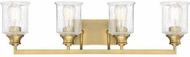 Savoy House 8-1972-4-322 Hampton Warm Brass 4-Light Vanity Light Fixture