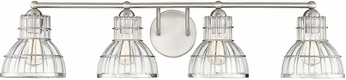 Savoy House 8-2102-4-SN Grant Satin Nickel 4-Light Bathroom Sconce