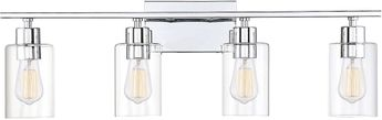 Savoy House 8-2149-4-11 Lambert Modern Polished Chrome 4-Light Bath Lighting Fixture