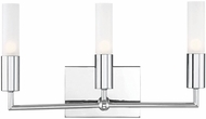 Savoy House 8-2172-3-11 Deacon Contemporary Polished Chrome Halogen 3-Light Bath Sconce