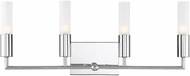 Savoy House 8-2172-4-11 Deacon Modern Polished Chrome Halogen 4-Light Vanity Light Fixture