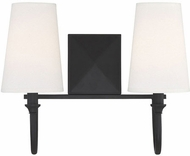 Savoy House 8-2542-2-89 Cameron  Matte Black 2-Light Bathroom Lighting