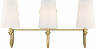 Savoy House 8-2542-3-322 Cameron Warm Brass 3-Light Vanity Lighting