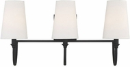 Savoy House 8-2542-3-89 Cameron  Matte Black 3-Light Bathroom Light